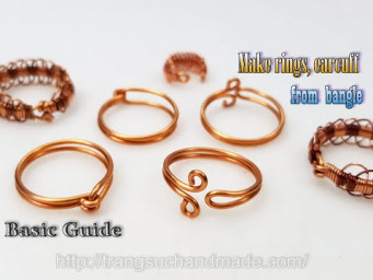 From bangle to make set of jewelry with rings, earcuff - Basic Guide 549