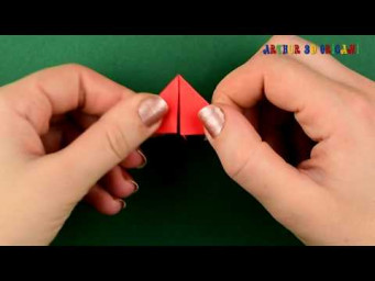 How to make a paper Christmas card with pieces 3D origami. Tutorial DIY