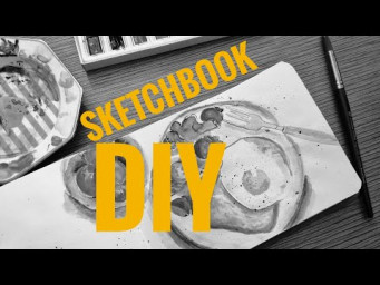 КАК СДЕЛАТЬ СКЕТЧБУК / How to Make a Sketchbook. DIY.