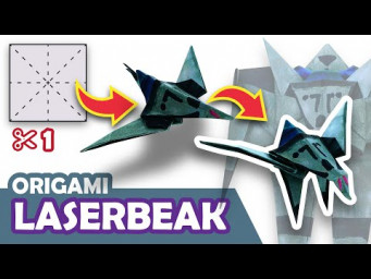 How to make a Transforming DECEPTICON LASERBEAK Origami Transformer
