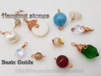 Some simple ways of hanging stones with common stone shapes and sizes ( have hole ) 518