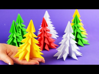 5 minutes craft | How to make 3D paper Christmas tree | DIY Tutorial