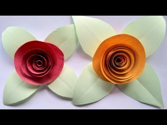 Paper art! Make a paper flowers rose paper crafts