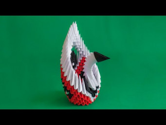 How to make a 3D origami Small Swan
