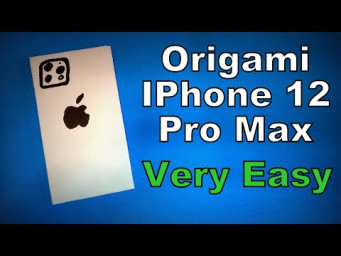 Origami IPhone 12 Pro Max | How to Make a Paper IPhone 12 Pro Max | Easy Origami ART Paper Crafts