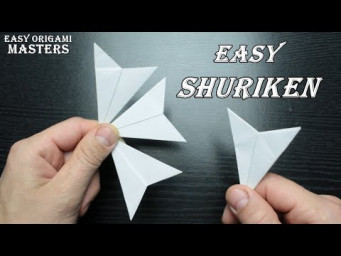 How to make an easy shuriken out of paper