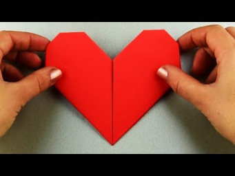 How to make a paper heart very easy. 5 minute craft Tutorial step by step origami for beginners