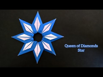 Origami Queen of Diamonds Star/ Paper 8-Point Star 折纸八角星
