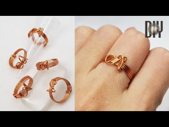 Letter A | Rings | Letters | Simplicity | How to do | Wire jewelry | DIY 571
