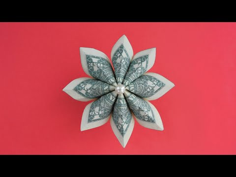 My MONEY FLOWER | Modular Dollar Origami for Graduation Lei | Tutorial DIY by NProkuda