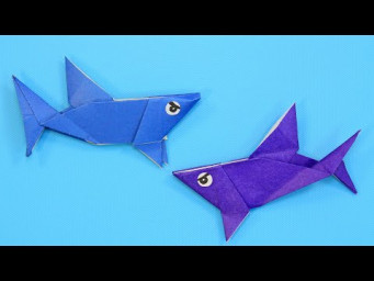 Оригами акула из бумаги / How to make a origami shark / DIY Paper Crafts