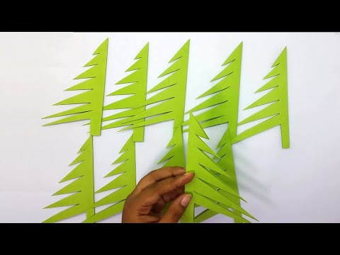 Paper Christmas Tree | How to Make a 3D Paper Xmas Tree Tutorial | DIY Christmas Décor Ideas