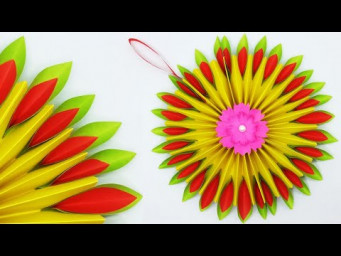 Paper Christmas Wreath | How To Make Paper Christmas Wreath | DIY Christmas Decoration Ideas