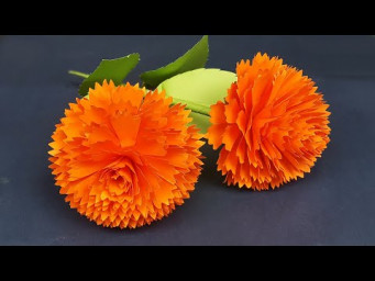 DIY Paper Flowers | Beautiful Flowers Making With Paper | Home Decor | Paper Craft