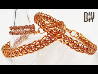 Twisted braided bracelet | thick bangles | Unisex | How to make | Wire Jewelry | DIY 592
