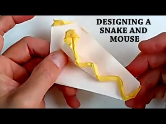 Origami Design Process: Snake and Mouse - Hudson's Zoom Birthday Party Online Tutoring Session