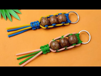 Super Easy Paracord Lanyard Keychain | How to make a Paracord Key Chain Handmade DIY Tutorial #37