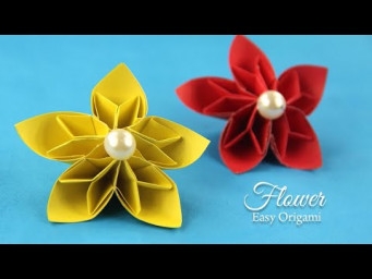 Easy Paper Flowers DIY Tutorial For Children
