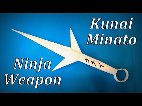 How to Make a Paper Kunai Minato / Ninja Weapon Knife DIY | Easy Origami ART Paper Crafts