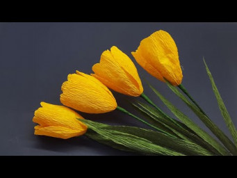 How to Make Beautiful Paper Tulip Flowers