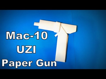 Origami Gun | How to Make a Paper Gun Mac10 Uzi DIY | Easy Origami ART Paper Crafts