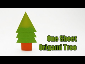 ONE SHEET ORIGAMI TREE v1 (Jo Nakashima) - Christmas Tree