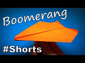 Origami Boomerang Plane | How to Make a Paper Boomerang Plane DIY | Easy Origami ART #Shorts