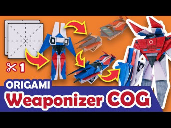 How to make a Transforming AUTOBOT COG Origami Transformer