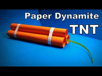 Origami Dynamite | How to Make a Paper Dynamite TNT BOMB DIY | Easy Origami ART Paper Crafts