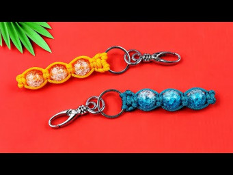 Super Easy Paracord Lanyard Keychain | How to make a Paracord Key Chain Handmade DIY Tutorial #35