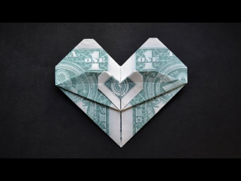 My MONEY DOUBLE HEART | Easy Dollar Origami | Tutorial DIY by NProkuda