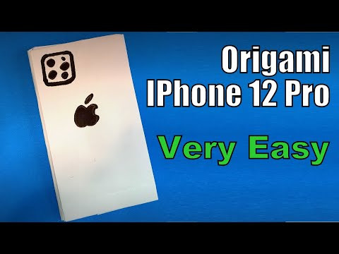 Origami IPhone 12 Pro | How to Make a Paper IPhone 12 Pro DIY | Easy Origami ART Paper Crafts