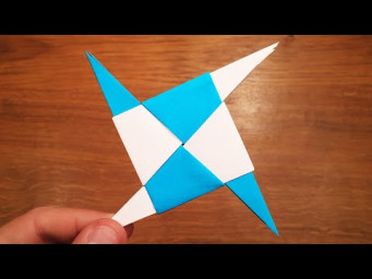 How To Make a Paper Thin Spike Ninja Star (Shuriken) - EASY Origami