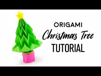 Origami Christmas Tree Tutorial - DIY - Paper Kawaii
