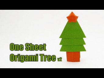 ONE SHEET ORIGAMI TREE v2 (Jo Nakashima) - Christmas Tree