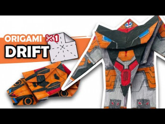 How to make a Transforming AUTOBOT DRIFT Origami Transformer