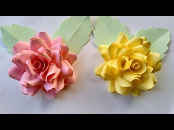How to make a paper flowers - beautiful flowers design and paper crafts