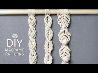 3 LEAF CHAIN PATTERNS FOR YOUR MACRAME PROJECTS