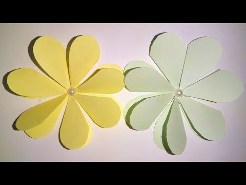 How to make a paper flowers _ simple paper crafts and beautiful flowers