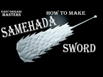 How to make a Samehada sword from Naruto. Design by - (Easy Origami Masters)