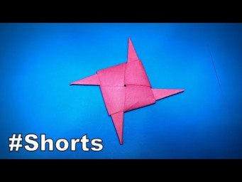 Origami Ninja Star | How to Make Origami Shuriken | Easy Origami ART Paper Crafts #Shorts