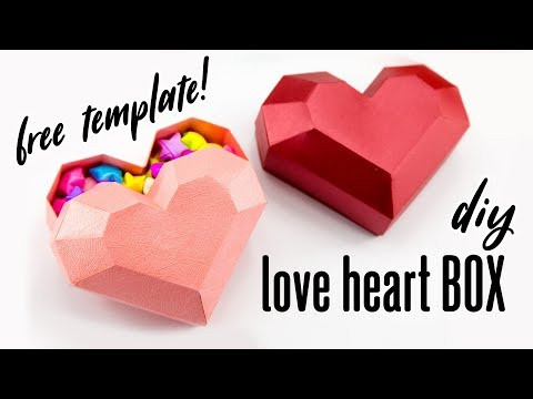 DIY Paper Heart Box Tutorial - Valentine's Day - Paper Kawaii