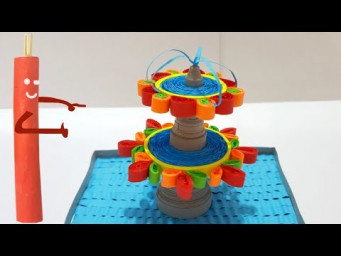 ✅ How to make a quilling fountain/ paper fountain / quilled fountain