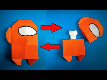 Origami Among Us | How to Make a Paper Among Us Dead Body Transformer | Easy Origami ART