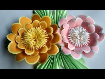 How to make a paper flowers - simple paper flowers and idias round flowers paper crafts