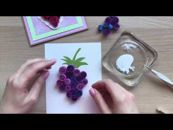 QllArt | Quilling tutorial | Paper fruits | Квиллинг