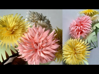 How to make a paper flowers - origami paper crafts -  paper flowers design
