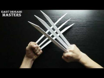 Wolverine claws (Easy Origami - Masters)