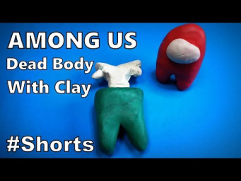 How to Make Dead Body AMONG US 3D with Clay DIY | Easy Origami ART #Shorts