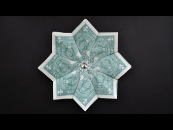 My MONEY FLOWER (STAR) | Easy Modular Dollar Origami Decoration | Tutorial DIY by NProkuda